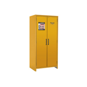 Justrite EN Flammable Safety Cabinet, 90-Minute Rated, 30 gal, 3 shelf, Yellow