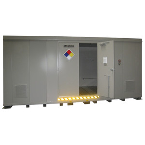 HazMat Drum Storage Building with Optional Fire Rating, 32 Drum