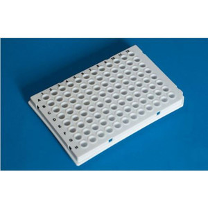 96-Well PCR Plate, Low-Profile with Sealing Film, white, pack/50
