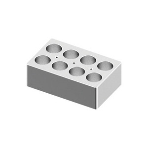 Heating Block, 50mL tubes, 8 holes, for Scilogex Digital Dry-Bath HB120-S