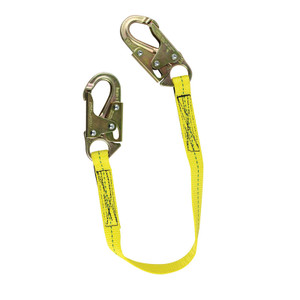 Lanyard, Double Locking Snap Hooks for Positioning, Restraint Only, Choose Length
