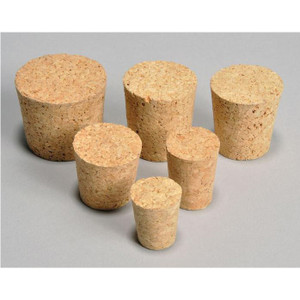Cork Bottle Stoppers, Medium (Size #5 to #9), case/100