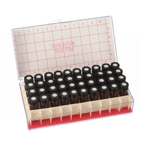 1.5mL Vials In Vial File Storage Box, Amber, PTFE Liner, Box/60