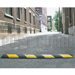 "6' L x 12"" W x 3"" H Alley Speed Bump Black with Yellow"