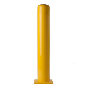 Bolt Down Bollards, Schedule 40, Yellow Powder Coated