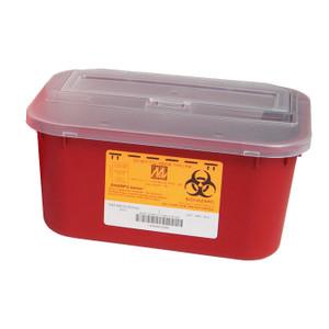 Sharps Container, 4 Quart, Disposable, case/48