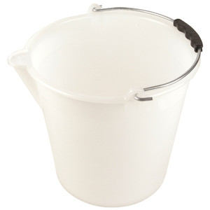 Bucket with Spout, Graduated, LDPE, 11 x 9.8in, 9L