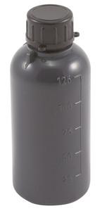 Lockable (Tamper Evident) Security Bottles, Graduated, LDPE, 125mL, case/50