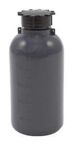 Lockable (Tamper Evident) Security Bottles, Graduated, LDPE, 250mL, case/50
