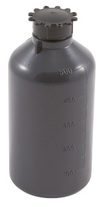 Lockable (Tamper Evident) Security Bottles, Graduated, LDPE, 500mL, case/25