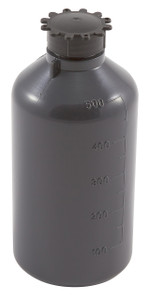 Lockable (Tamper Evident) Security Bottles, Graduated, LDPE, 500mL, case/25