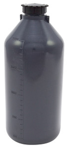 Lockable (Tamper Evident) Security Bottles, Graduated, LDPE, 2000mL, case/2