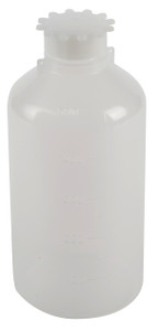 Lockable (Tamper Evident) Security Bottles, Graduated LDPE,500mL, pack/5