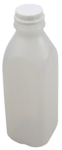 Square Bottle, Tall Natural HDPE, 32oz Tamper Evident, case/12