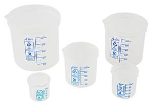 Beaker Set, Graduated Polypropylene, (Set of 5)