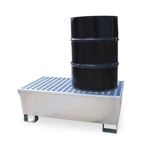 Ultra Steel Spill Pallet, 2 drum, 68 gal sump, 14 gauge P2