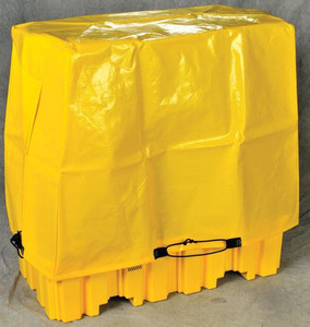 Tarp Drum Cover for 4-Drum Pallets, Yellow