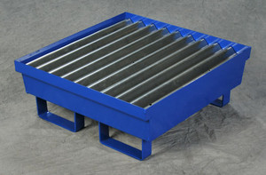 One Drum Steel Containment Pallet, Blue