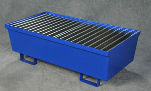 Two Drum Steel Containment Pallet, Blue