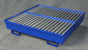 Four Drum Steel Containment Pallet, Blue