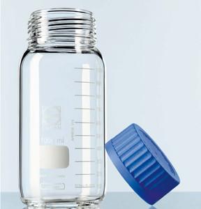 Glass Media Bottle, GL80 Thread, Wide Mouth, Graduated, 10,000mL, Each