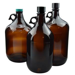 2 Liter Amber Glass Jugs, case/6