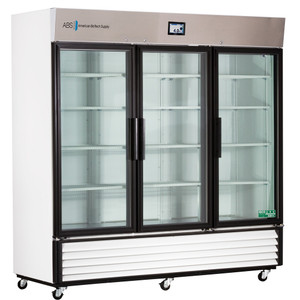 TempLog Premier Laboratory Triple Slide Glass Door Refrigerator 69 Cu. Ft.