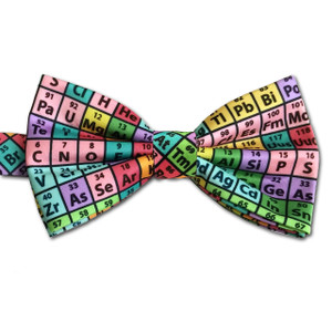Periodic Table Bow Tie, Rainbow Microfiber