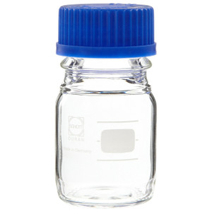 Media Bottles, 100mL, GL-45, Blue Cap, Schott, case/10