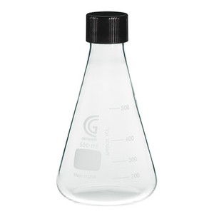 Chemglass 250mL Erlenmeyer Flask, 38-430 GPI Screw Thread, Each