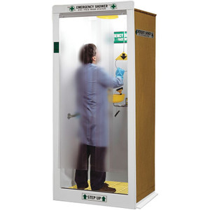 "HEMCO Emergency Shower Decontamination Booth, 40"" x 37"" x 90"""
