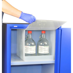 "Non-Metallic Poly Acid Cabinet, 13"" Nitric Acid Compartment"