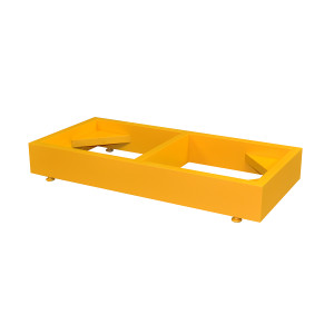 Mini Stak-a-Cab Floor Stand for Mini Stacking SciMatCo Flammables Cabinet, Yellow