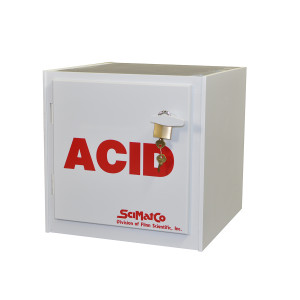 "Non-Metallic Poly Acid Cabinet, 16"" Bench Top Acid Cabinet"