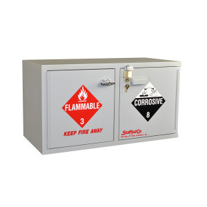 Wood Flammables/Acids Cabinet, 4 gal Mini Stak-a-Cab