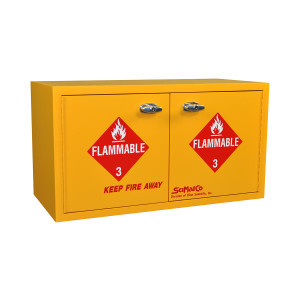 "Non-Metallic Wood Flammable Cabinet, 31"" x 17"" Mini Stak-a-Cab, Self-Closing"