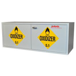 "Non-Metallic Wood Acid Cabinet, 47"" x 18"" Stak-a-Cab Oxidizer Cabinet"