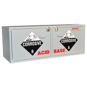 "Non-Metallic Wood Acid Cabinet, 47"" x 18"" Stak-a-Cab Combination Acid/Base Cabinet"