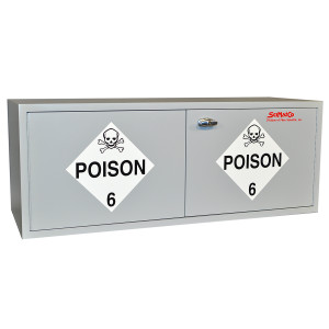 "Non-Metallic Wood Acid Cabinet, 47"" x 18"" Stak-a-Cab Poison Cabinet"