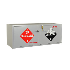 """Wood Acid/Flammables Cabinet, 47"""" x 18"""" Stak-a-Cab Combo"""