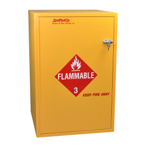 "Non-Metallic Wood Flammable Cabinet, 23"" x 36"" 30 gal"