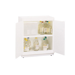 "Non-Metallic Poly Acid Cabinet, 31"" x 36"" Floor Style, Top Tray, HDPE"
