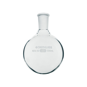 Chemglass 22000mL Heavy Wall Single Neck Round Bottom Flask, 45/50 Outer Joint