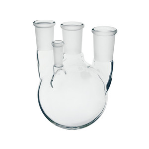 Chemglass 12000mL Heavy Wall 4 Neck Round Bottom Flask with 10/30 Thermometer Joint