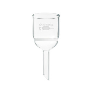 Chemglass Buchner Filtering Funnel with Medium Frit, 3 L Capacity