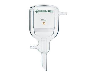 Chemglass Jacket Filter Funnel, Medium Frit, 350mL Capacity