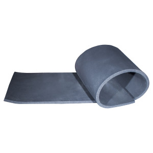 "Unitherm Black Foam Rubber Sheet,  1/2"" Thick (36x48)"