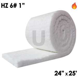 "Unitherm Ceramic Fiber Blanket, 8lb, 1"", 24"" x 25'"