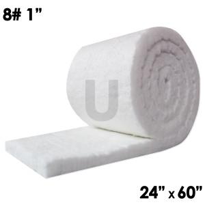 "Unitherm Ceramic Fiber Blanket, 8lb, 1"", 24"" x 60"""