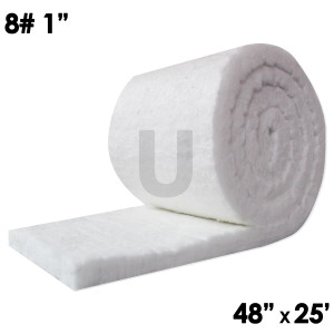 "Unitherm Ceramic Fiber Blanket, 8lb, 1"", 48"" x 25'"